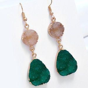 Natural Stone Earrings Hook